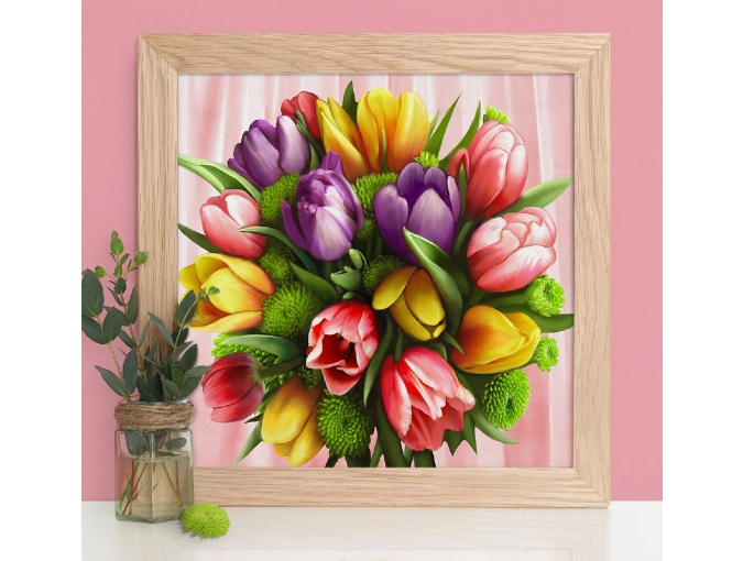 Bouquet of Tulips Diamond Painting Kit фото 1