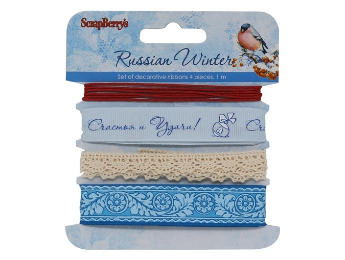 Set of decorative ribbons Russian Winter фото 1