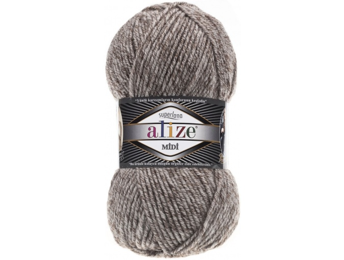 Alize Superlana Midi 25% Wool, 75% Acrylic, 5 Skein Value Pack, 500g фото 45