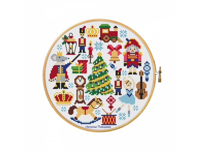 Nutcracker Sampler Cross Stitch Pattern фото 1