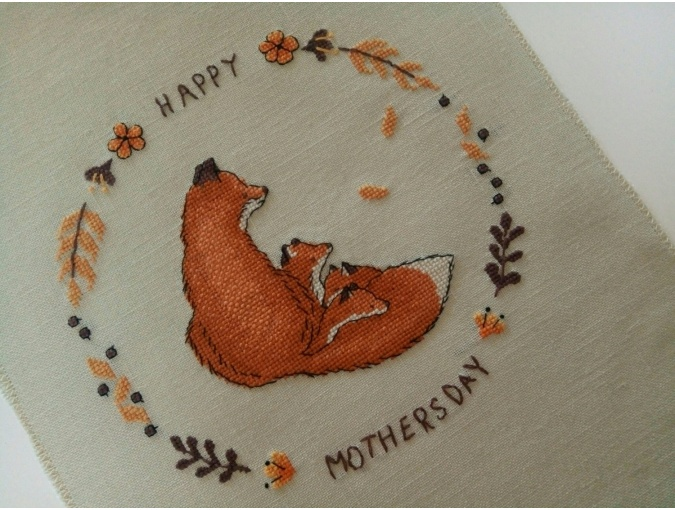 Happy Mothers Day Cross Stitch Pattern фото 6