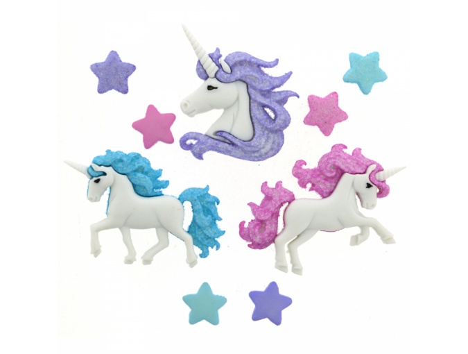 Magical Unicorns Set of Decorative Buttons фото 1