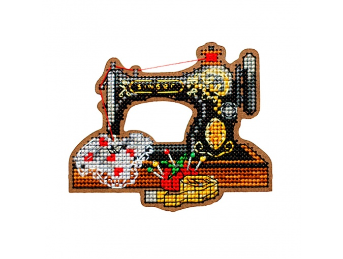 Sewing Machine Original Magnet Cross Stitch Kit фото 1