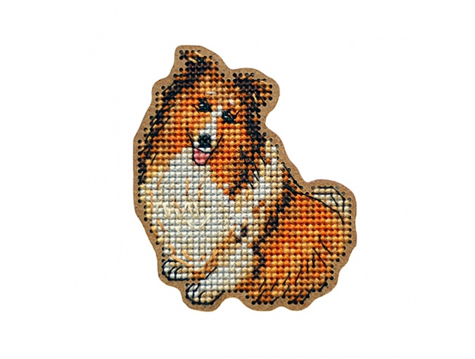 Sheltie Brooch Cross Stitch Kit фото 1