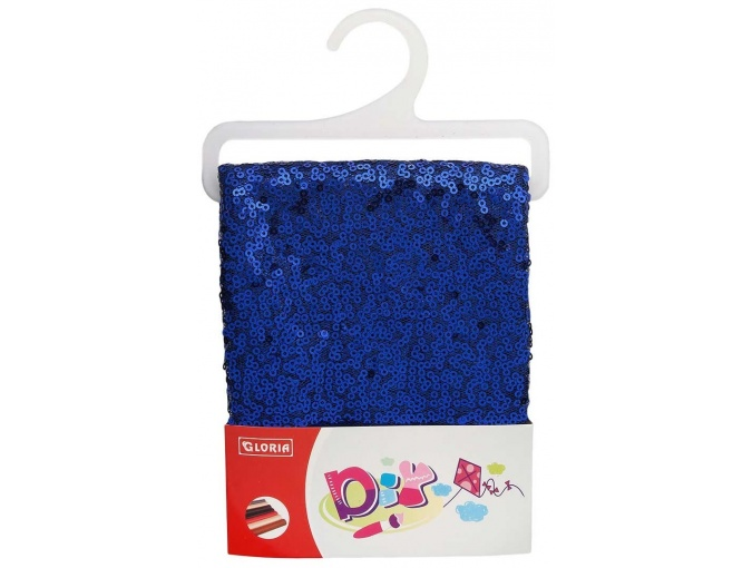 Royal Blue Sequins Mesh Patchwork Fabric фото 1