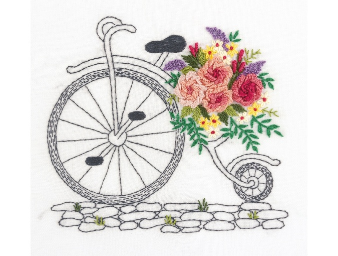 A Bouquet on Wheels Embroidery Kit фото 1