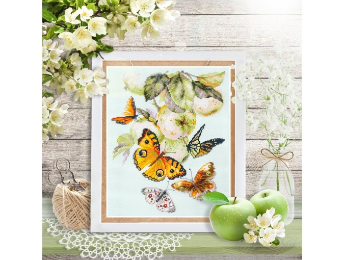 Butterflies and Apples Cross Stitch Kit фото 4