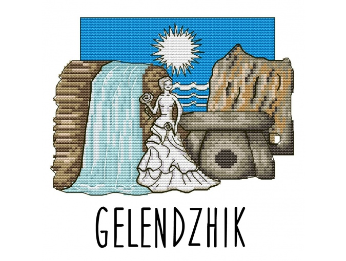 Gelendzhik Cross Stitch Pattern фото 1