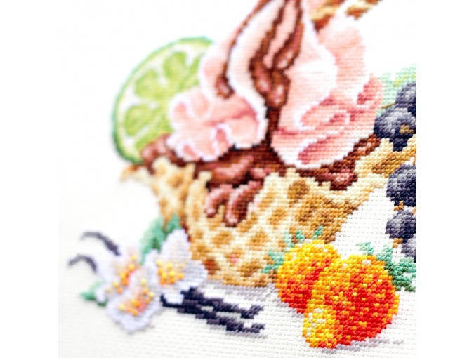 Vanilla Ice Cream Cross Stitch Kit фото 8