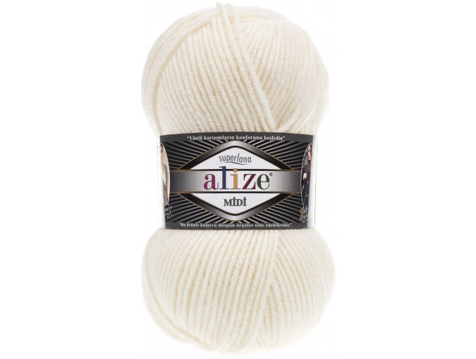 Alize Superlana Midi 25% Wool, 75% Acrylic, 5 Skein Value Pack, 500g фото 13