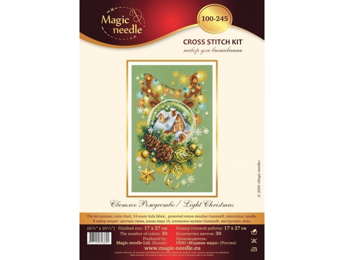 Light Christmas Cross Stitch Kit фото 2