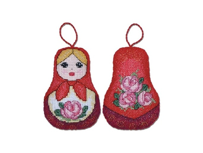 Russian Doll Cross Stitch Kit фото 1