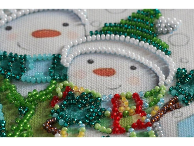 Snow Friends Bead Embroidery Kit фото 3