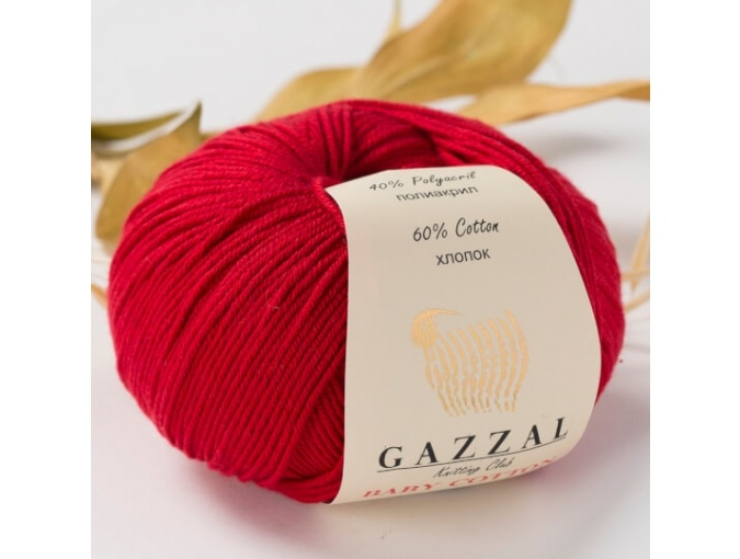 Gazzal Baby Cotton, 60% Cotton, 40% Acrylic 10 Skein Value Pack, 500g фото 60