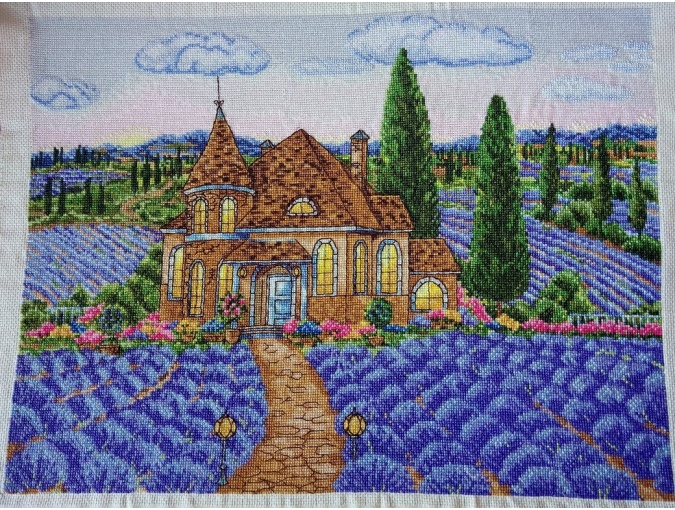 Dawn in the Lavender Valley Cross Stitch Pattern фото 3