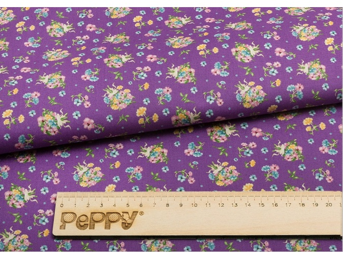 Fat Quarter Peppy, print Violet with Flowers фото 2