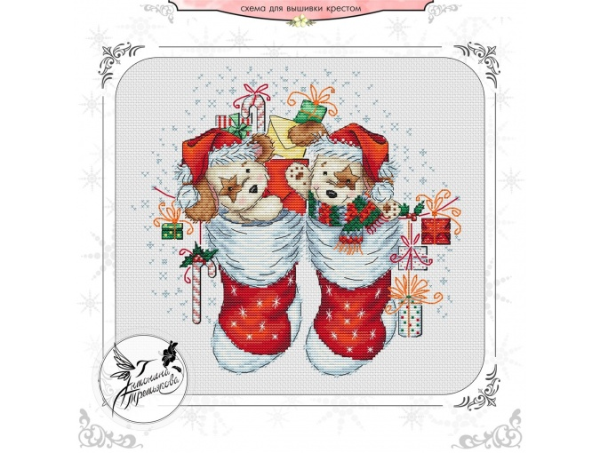 Little Santa Cross Stitch Chart фото 1