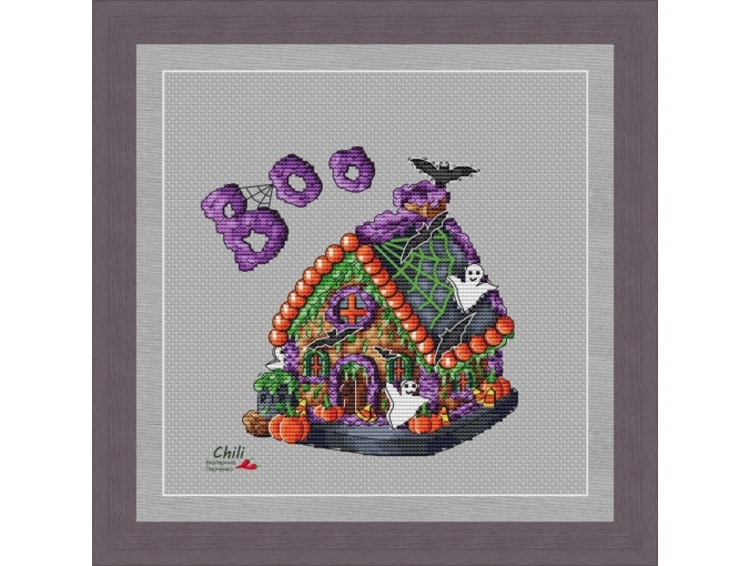 Scary Gingerbread House Cross Stitch Pattern фото 1