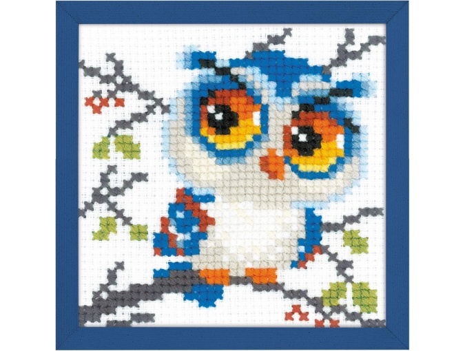 Scops Owl Cross Stitch Kit фото 1