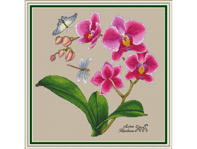 Phalaenopsis Cross Stitch Pattern фото 1