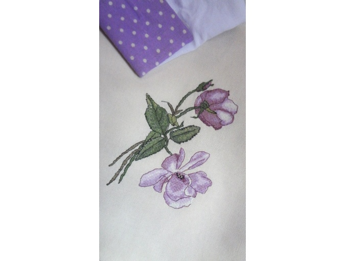 Lilac Rose Cross Stitch Pattern фото 2