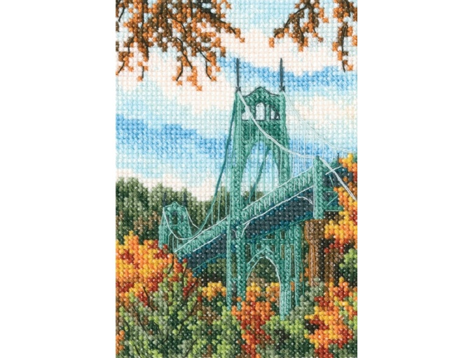 St. Johns Bridge Cross Stitch Kit фото 1