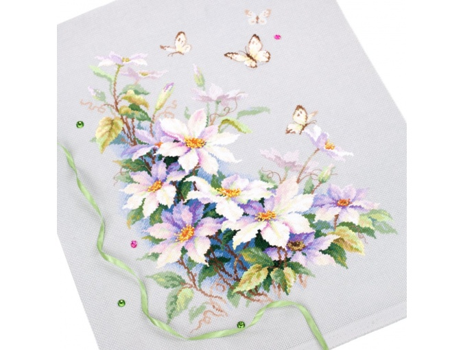 Clematis and Butterflies Cross Stitch Kit фото 4