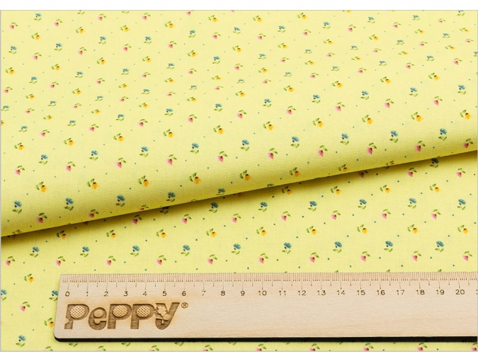 Fat Quarter Peppy, print Yellow with Small Flowers фото 2
