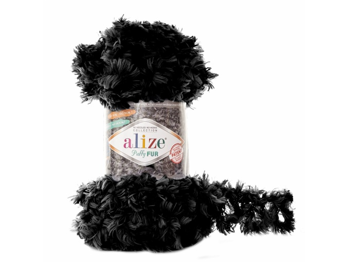 Alize Puffy Fur, 100% Polyester 5 Skein Value Pack, 500g фото 3