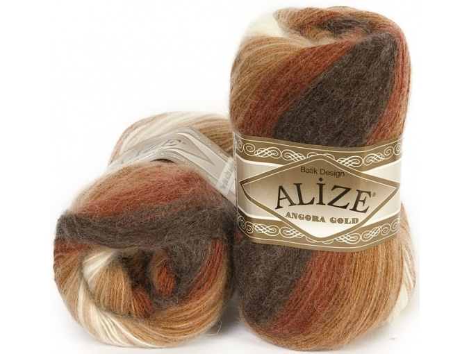 Alize Angora Gold Batik, 10% mohair, 10% wool, 80% acrylic 5 Skein Value Pack, 500g фото 12