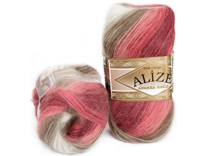 Alize Angora Gold Batik, 10% mohair, 10% wool, 80% acrylic 5 Skein Value Pack, 500g фото 9
