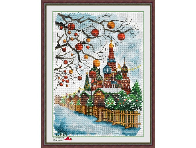 New Year's Moscow Cross Stitch Pattern  фото 1