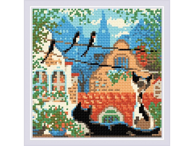 City & Cats Summer Diamond Painting Kit фото 1