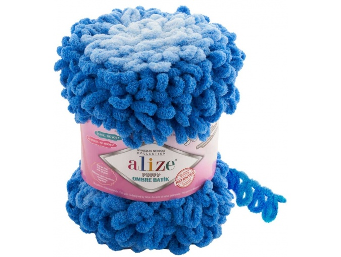 Alize Puffy Ombre Batik, 100% Micropolyester 1 Skein Value Pack, 600g фото 8