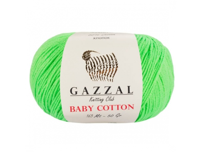 Gazzal Baby Cotton, 60% Cotton, 40% Acrylic 10 Skein Value Pack, 500g фото 36