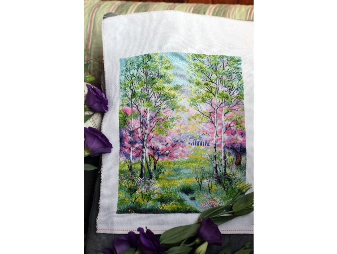 Spring Landscape Cross Stitch Pattern фото 2