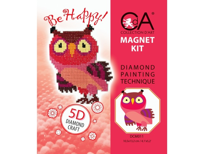 Eagle-owl Magnet Diamond Painting Kit фото 2