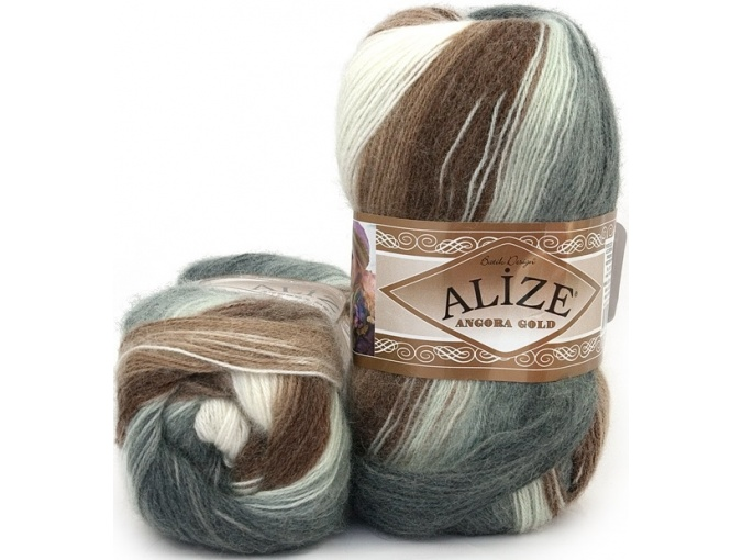 Alize Angora Gold Batik, 10% mohair, 10% wool, 80% acrylic 5 Skein Value Pack, 500g фото 48