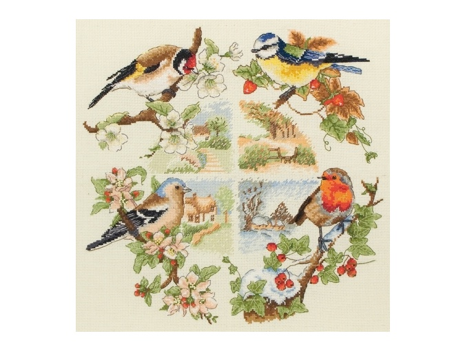 Birds and Seasons Cross Stitch Kit фото 1