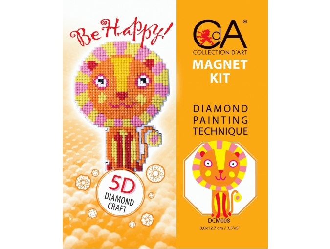 Lion Magnet Diamond Painting Kit фото 2