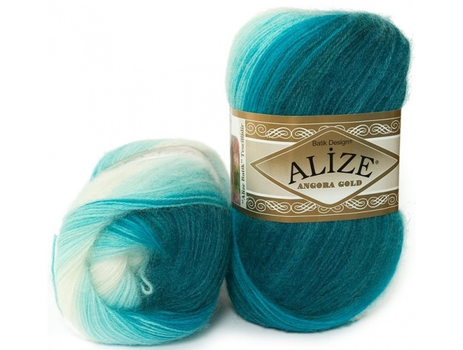 Alize Angora Gold Batik, 10% mohair, 10% wool, 80% acrylic 5 Skein Value Pack, 500g фото 4