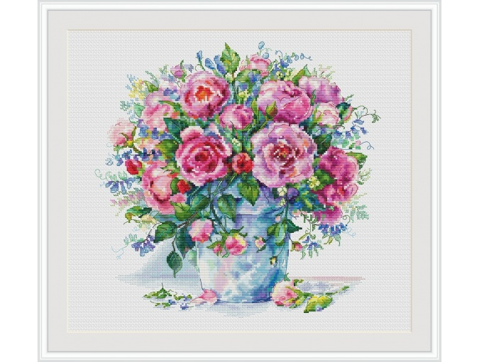 Bouquet of Roses Cross Stitch Chart фото 1