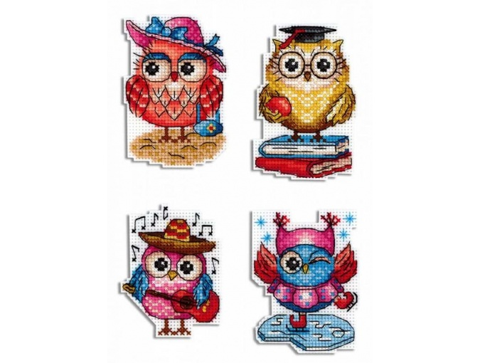 Owl Stories Magnets Cross Stitch Kit фото 1