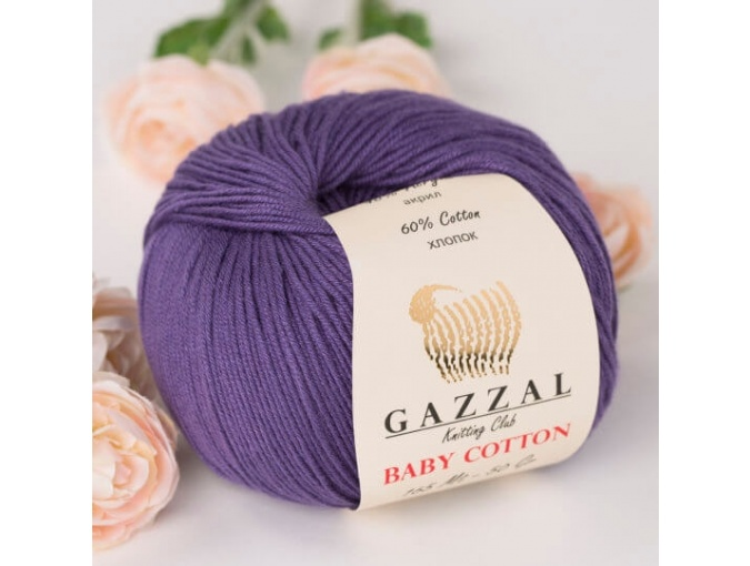 Gazzal Baby Cotton, 60% Cotton, 40% Acrylic 10 Skein Value Pack, 500g фото 62