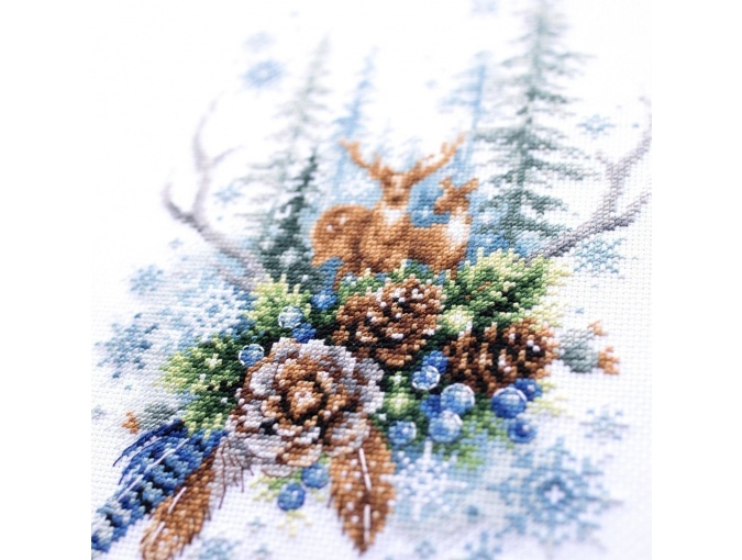 Winter Forest Spirit Cross Stitch Kit фото 7