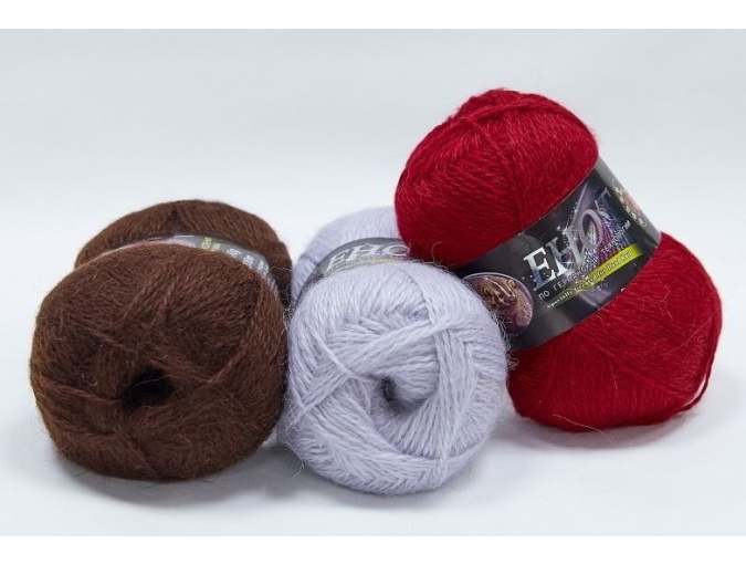 Color City Raccoon 60% Lambswool, 20% Raccoon Wool, 20% Acrylic, 10 Skein Value Pack, 1000g фото 1