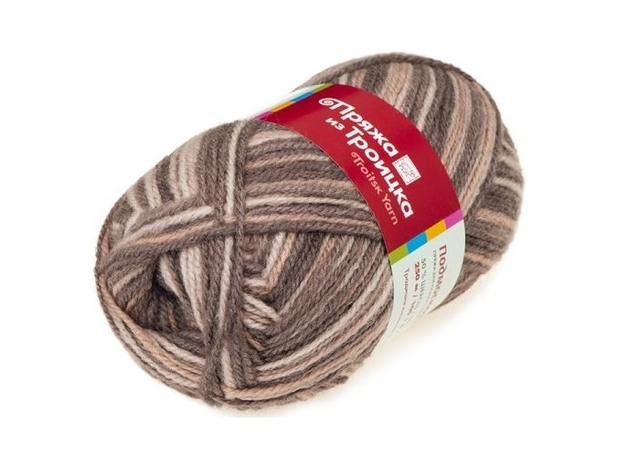Troitsk Wool Countryside Print, 50% wool, 50% acrylic 10 Skein Value Pack, 1000g фото 46