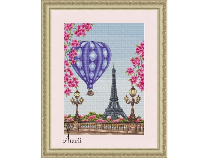 Spring in Paris Cross Stitch Chart фото 1