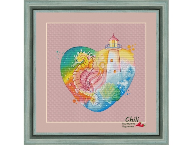 Lighthouse in My Heart. Morning Cross Stitch Pattern фото 1