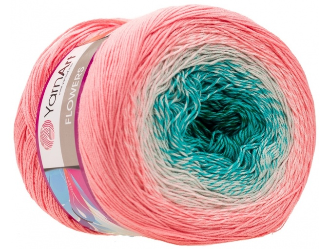 YarnArt Flowers, 55% Cotton, 45% Acrylic, 2 Skein Value Pack, 500g фото 79